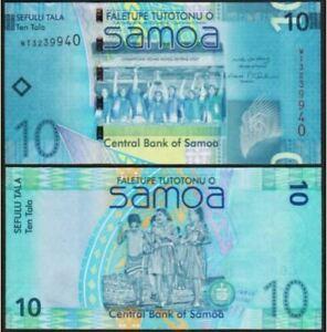 Samoa 10 Tala 2008 (UNC) 全新 萨摩亚 10塔拉 纸币 2008年版 WT4838447