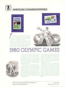 121-10c-31c-1980-Summer-Olympics-1790-C79-USPS-Commemorative-Stamp-Panel