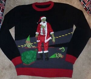 Christmas Zombie Santa.Details About New Zombie Santa Ugly Christmas Holiday Sweater Blizzard Bay Men S Small Nip