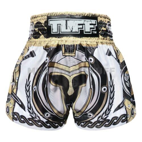 New TUFF Muay Thai Boxing Shorts 634 Kick MMA Training Black White S M L XL XXL