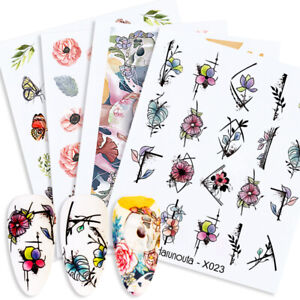 Harunouta-Nail-Water-Decals-Colorful-Flower-Nail-Art-Transfer-Sticker-Decoration