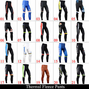 New-Mens-Winter-Pants-Bike-Cycling-Fleece-Thermal-Bicycle-Wear-Padded-Tights-Hot