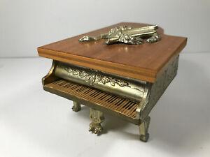 Lovely Vintage Buhler Piano Switzerland Swiss Music Jewelry Box thorens