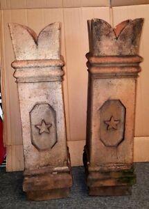 OLD 1800's Fancy Chimney Pot Pots antique original antique architectural