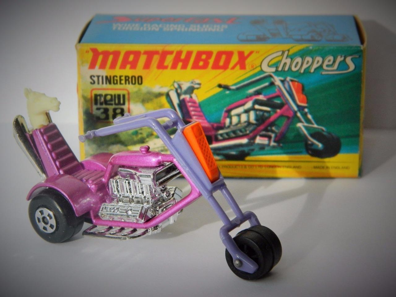 VINTAGE MATCHBOX LESNEY SUPERFAST CHOPPERS No.38 STINGEROO MINT IN 'I' BOX 1973