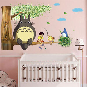 My-Neighbor-Totoro-Fishing-Wall-Sticker-Nursery-Kids-Bedroom-Decal-Home-Decor