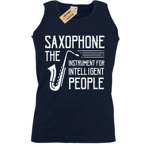 Saxophone Tank Top Mens musician jazz Vest players lovers gift present idea