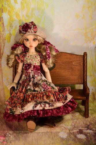 """Fits 18/"""" MSD BJD Kaye Wiggs Liz Frost Bohemian Girl PDF Dress /& Hat Pattern"""