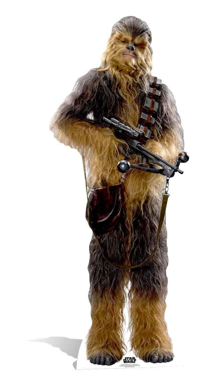 Chewbacca Star Wars das Erwachen der Macht Lebensechte Größe Pappfigur | Fein Verarbeitet  | Ruf zuerst