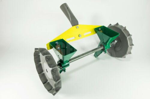 Garden Metal Precision Seeder Vegetable 2 Row Manual Planter sowing small seeds