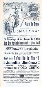 Original-1930s-Spanish-Bullfighting-Poster-Malaga-Lot-333