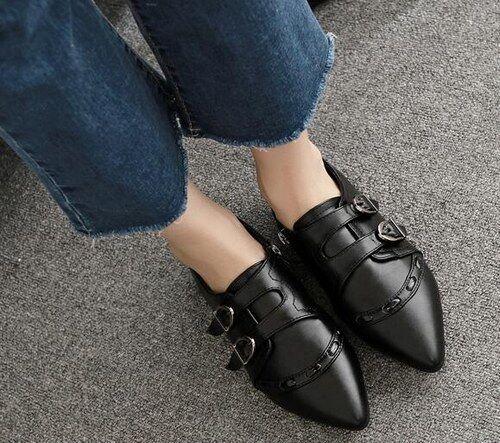 botas bajo zapatos bajo 3.5 cm negro elegantes como piel 9031
