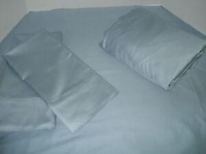 New-Queen-Sheets-set-100-cotton-525-TC-blue-crest-Color