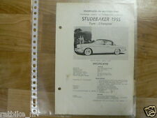 ST01-STUDEBAKER TYPE CHAMPION 1955 -TECHNICAL INFO REGAL COUPE OLDTIMER