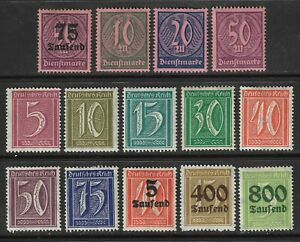 GERMANY-1921-1923-33-x-Deutsches-Reich-Post-amp-Officials-amp-1-x-DDR-VF-XF-MH