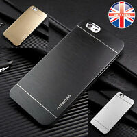 SLIM BRUSHED METAL ALLOY ALUMINIUM HARD CASE COVER FOR IPHONE 6 6s & 6 PLUS
