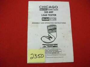 CHICAGO-ELECTRIC-POWER-TOOLS-500-AMP-LOAD-TESTER-91129-OPERATING-INSTRUCTIONS