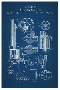 Revolver-1875-Official-Patent-Blueprint-Poster-24x36-inch
