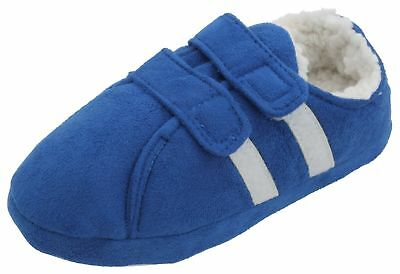 Slumberzzz Boys Sporty Trainer Style Easy Fastening Slippers