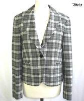 Marlboro Classics - Veste Blazer Laine Gris Fonce & Gris Taille 38 Fr - Neuve