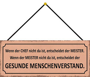 Chief Not As Master Decides Shield with Cord Tin Sign 10 X 27 CM K0705-K