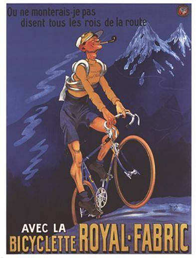 Royal Fabric Bicycle Advertisment French Fine Art Print Poster Home Decor 584053