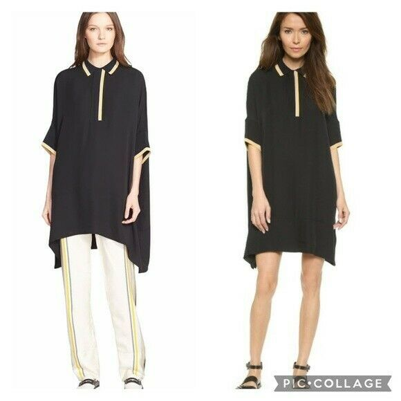 Rag and Bone Dana Silk Tunic Size 0 Black - image 1