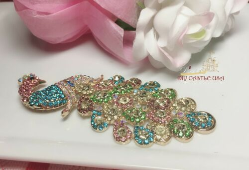 Crafting Peacock Craft Jewelry craft accessories Rhinestones Craft Supplies