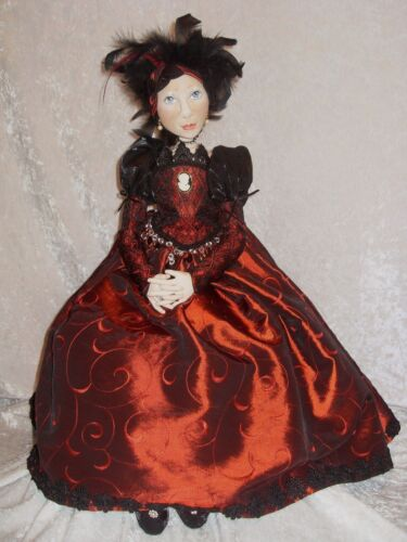 "PAPER *NEW* CLOTH ART DOLL PATTERN /""THE BOUDOIR DOLL/"" BY SUZETTE RUGOLO"