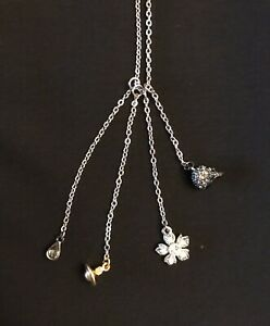 Vivienne Westwood Necklace Skull, Orb & More. Silver Tone. Excellent Pre-Owned.