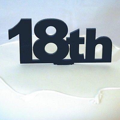 18th Compleanno Cake Topper-nero-mostra Il Titolo Originale