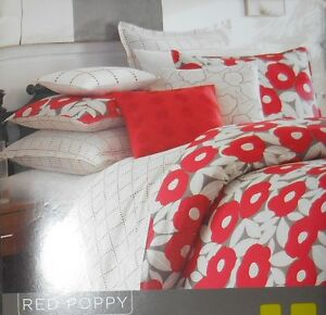 Not Neutral Red Poppy Twin Bed Skirt Polka Dots 100 Cotton White