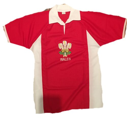 WALES WELSH ADULTS RUGBY T SHIRT FEATHERS SHORT SLEEVE  ALL SIZES NEW  EMBROIDED