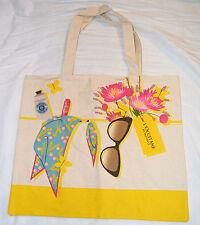 L'occitane GIALLO e beige grande Tote/Shopper stile sacchetto NUOVO