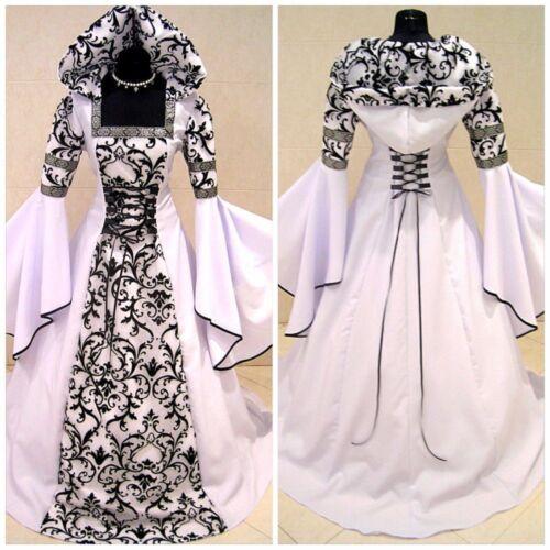 US Medieval Victorian Renaissance Gothic Vampire Halloween Cosplay CostumeDress