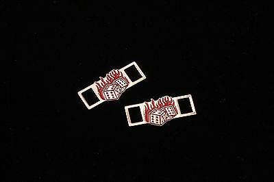 Custom Encaje Cerradura dubrae Diamond 100 Medusa Cabeza Dados Con Fuego Para Cordones y formadores