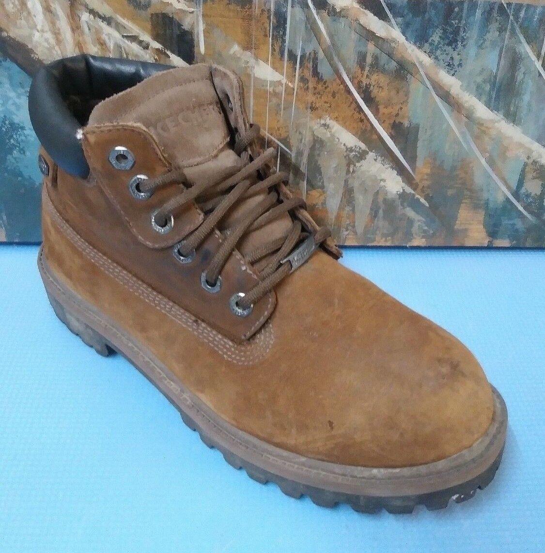 Skechers Sergeants Brown Waterproof 4243 Men's Size 9 Leather Boots