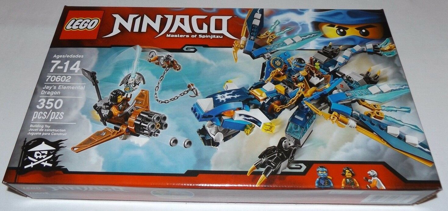LEGO Ninjago JAY's ELEMENTAL DRAGON 70602 lightning Blau ninja dragon monkey