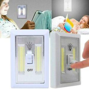 Magnetische COB LED Wandschalter Licht Batteriebetriebene drahtlose Nachtlampe
