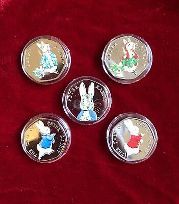 Beswick Beatrix Potter 50p Uncirculated Coin Peter Rabbit Collections 2016/2017/2018