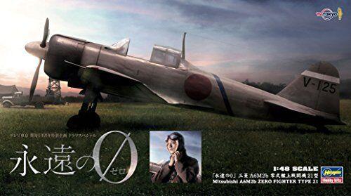 Hasegawa 1 48 Eien no Zero Mitsubishi A6M2b Zero Fighter Type21 Model Kit NEW