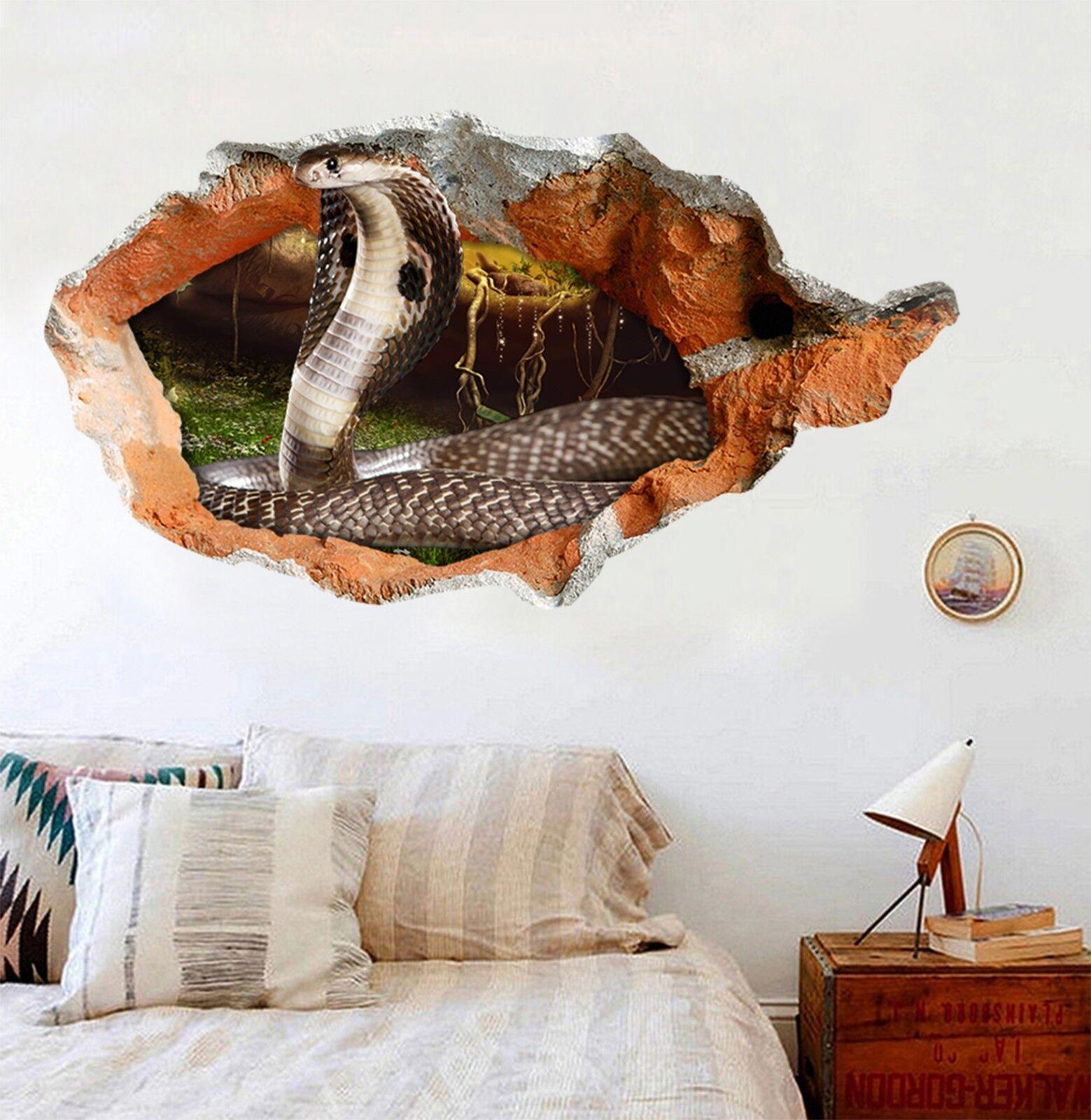 3D Lange Kobra 165 Mauer Murals Mauer Aufklebe Decal Durchbruch AJ WALLPAPER DE