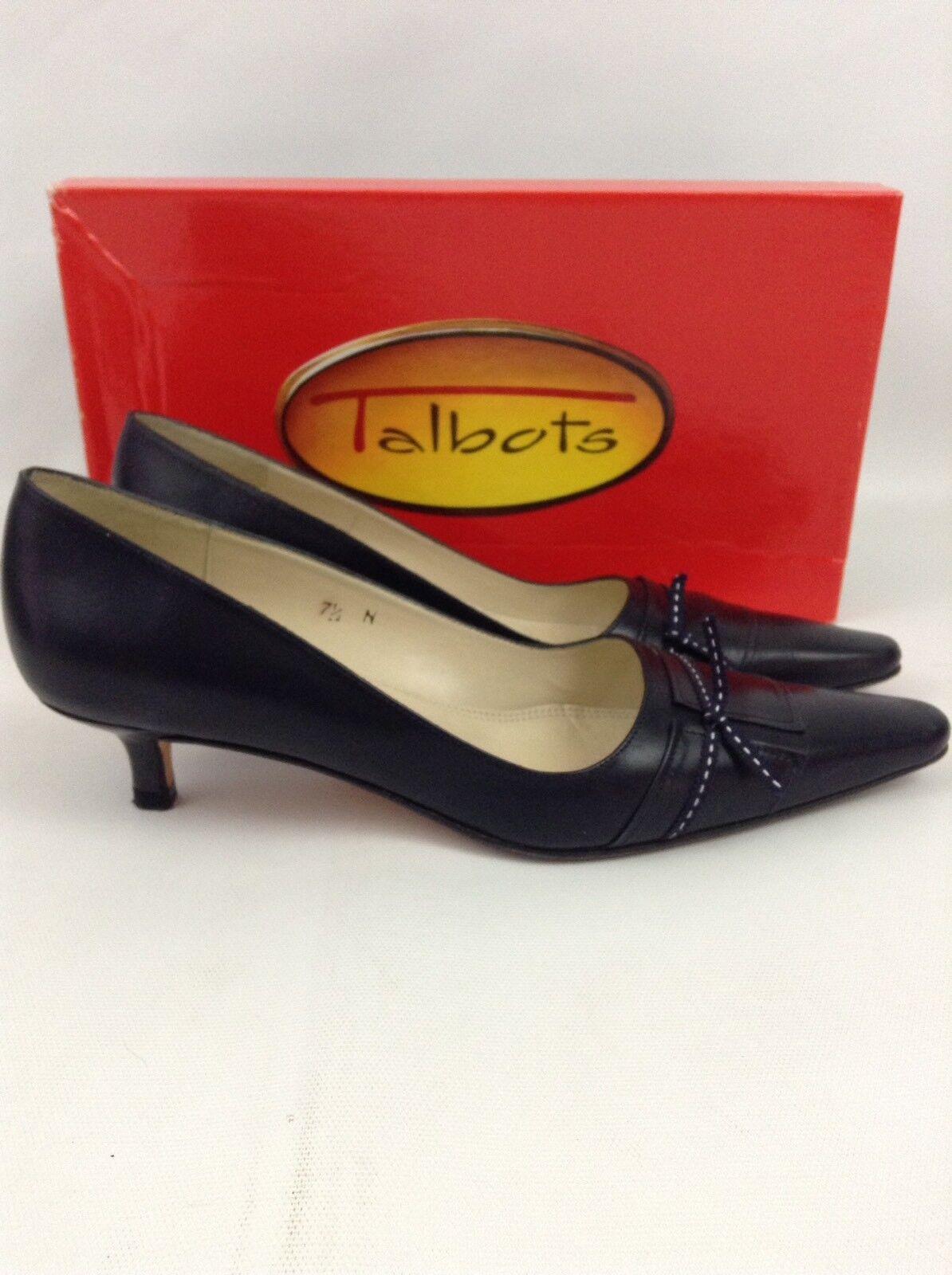 Talbots Navy Delia Damenschuhe Heels Größe 7.5 N