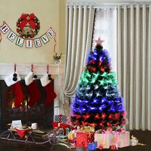 Fiber Optic Christmas Tree & Colorful LED Light W/ Stand Home Xmas ...