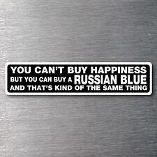 Buy a Russian Blue sticker quality 7 yr water/fade proof vinyl cat kitten
