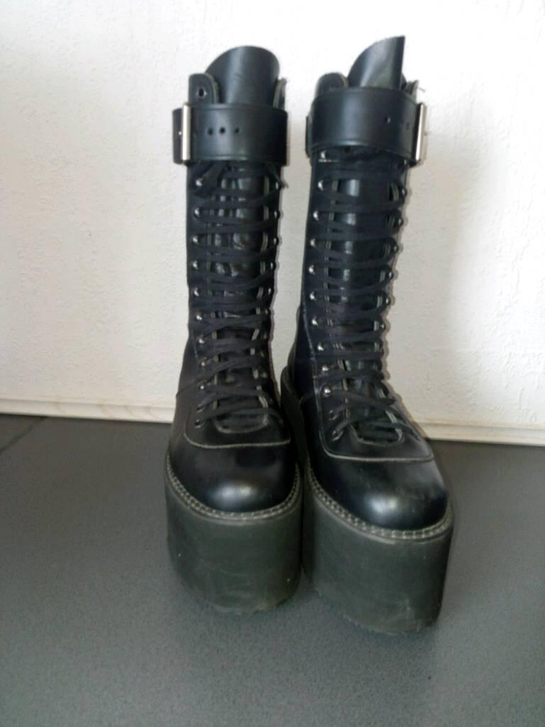 Magic Schuhes England Stiefel Plateau Schnallen Stiefel England Gr. 39 47498d