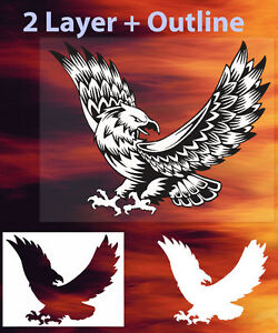Details about Eagle 1 Animal Airbrush Stencil Spray Vision Template