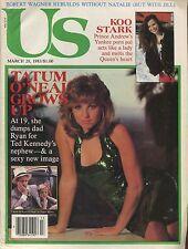 US MAGAZINE March 28, 1983 3/28/83 TATUM O'NEAL KOO STARK MYRLIE EVERS C-2-2