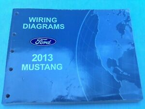 Reduced Price 2013 Ford Mustang Wiring Diagrams Service Manual Free S H Ebay
