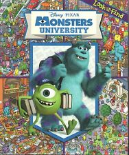 MONSTERS UNIVERSITY Look And Find BOOK New INC Disney Mike MONSTER SEARCH Spot